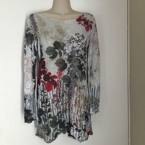 Cache floral dress top