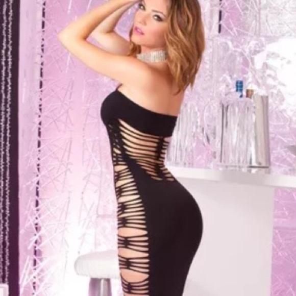 68% off Pink lipstick Dresses & Skirts - PINK LIPSTICK CUT OUT ...