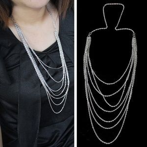 Jewelry - Silver multi chain necklace NWOT
