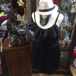 Apostrophe Dresses & Skirts - Apostrophe Black Ruffle Dress!
