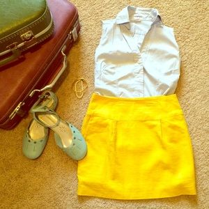 yellow forever twenty one skirt. Get the look.