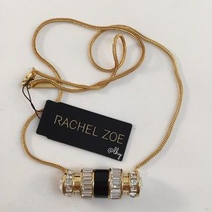 RACHEL ZOE LONG BARREL NECKLACE