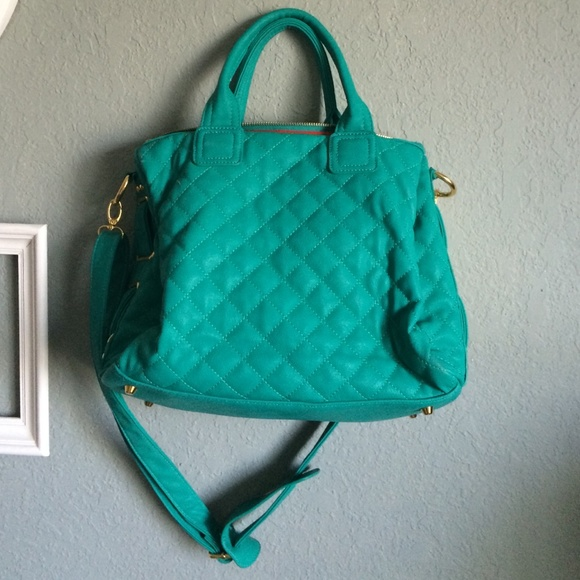 Michael Kors Teal Michael Kors Quilted Purse From Deli S