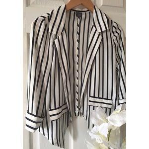 chic striped blazer