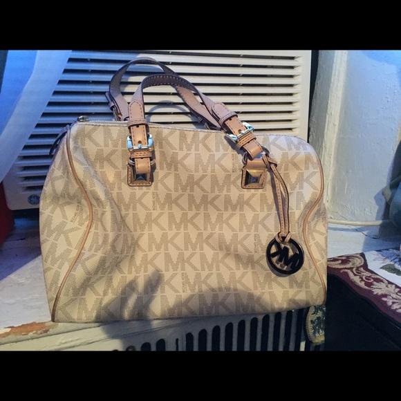 486f94276a8a38 Michael Kors Bags | Mk Duffle Bag White And Beige | Poshmark