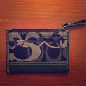 coach change purse  25  35 navy blue coach change purse size small ...