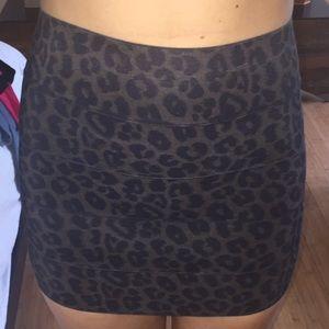 NAMELESS leopard skirt