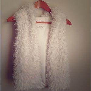 Faux sheep fur vest