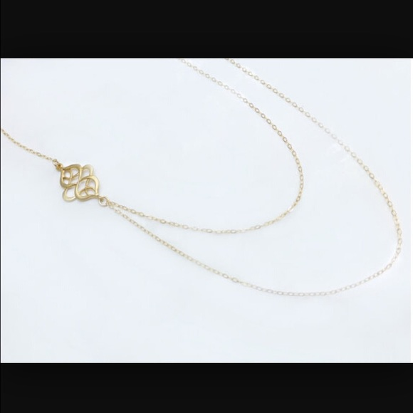 simple elegant double chain necklace os from rose s