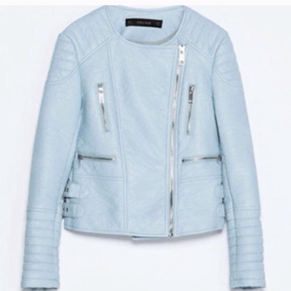 35 Off Zara Jackets Amp Blazers Nwot Zara Powder Blue