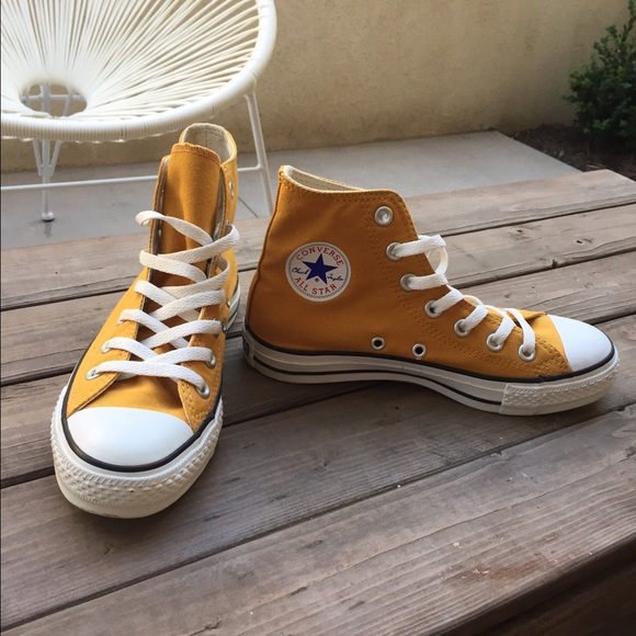 ed1bfa3f7344c1 Converse Shoes - Mustard Yellow Converse All Stars High Tops