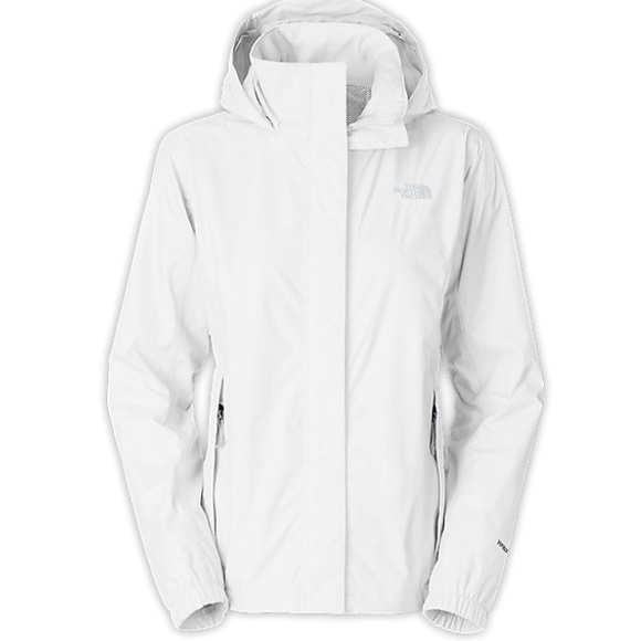 North face rain jacket black and white