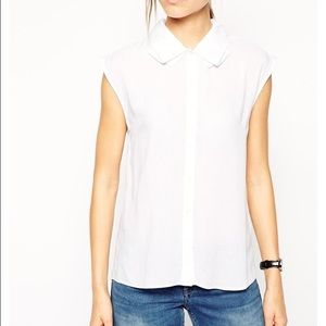 Asos folded collar blouse short sleeve 4