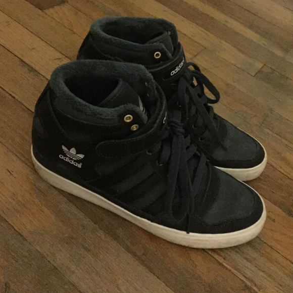 Adidas Shoes - ADIDAS Forum Up (2 inch wedge) - Black 71fc9ecf63