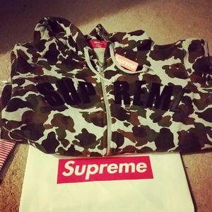 Supreme Camo Zip Up Hoodie