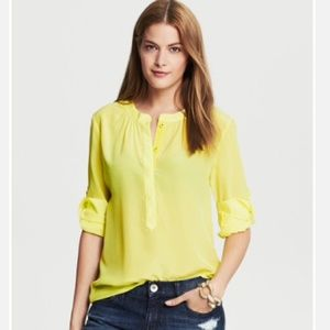 Banana Republic Tops - 🆕LISTING! BANANA REPUBLIC Yellow silk top