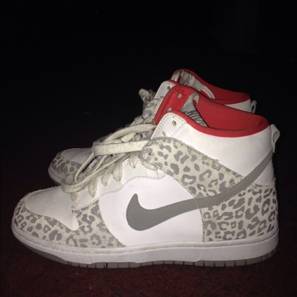 50 nike shoes white nike dunks leopard print from