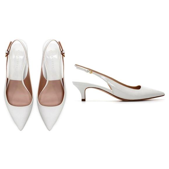 Zara Shoes   Zara White Pointy Kitten