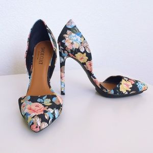 Nasty Gal Shoes - SOLD⛔️ Floral High Heels