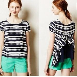 Anthro Mavue silk top