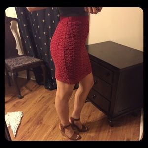 Kenar Dresses & Skirts - Kenar Red Lace Crochet Skirt sz 6