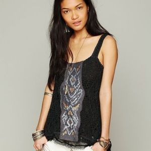 Free people knit tabletop with sequins
