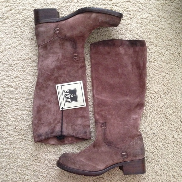 40 frye boots frye brown suede leather pull on boot