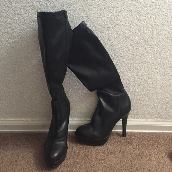 6db42f55ebf8 ALDO Shoes | Black Knee High Heel Boots | Poshmark
