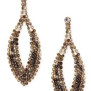 Cara Couture Accessories - Cara Couture Grey Multi Open Teardrop Earrings