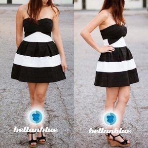 XX -The GRACE bandage dress - BLACK/WHITE
