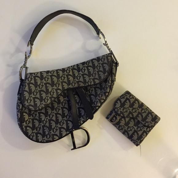 9df45fae23f Dior Handbags - Authentic Christian Dior Saddle Bag + Wallet