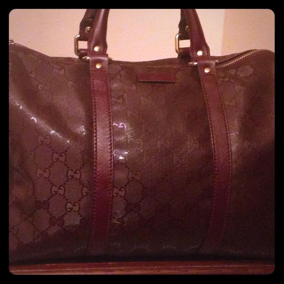 2ab69851b72 Gucci Handbags - Gucci Burgundy Gg Imprime Joy Boston bag
