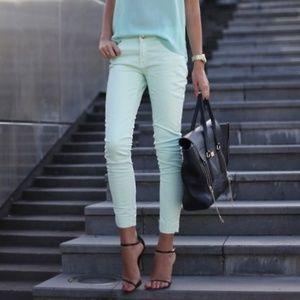 Zara Mint Skinny Pants