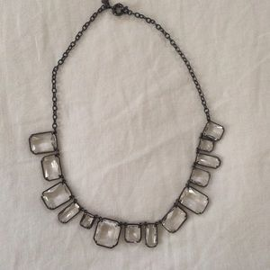 J.Crew Clear Crystal Necklace