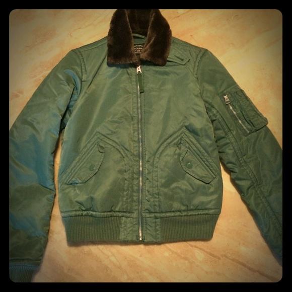 97f1e2286 Ralph Lauren Polo Green Military Bomber Jacket - M