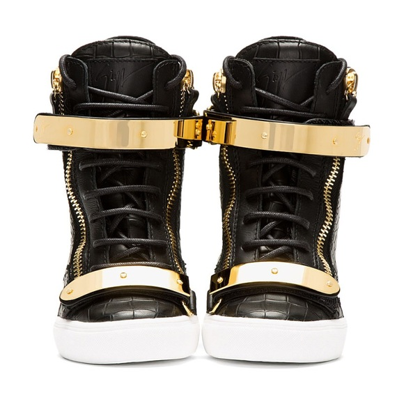 4e59435a72568 Giuseppe Zanotti Shoes - Giuseppe Zanotti Croc-embossed Loren Z75 Wedge