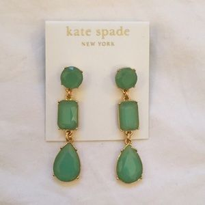 Authentic Kate Spade Green Drop Earrings