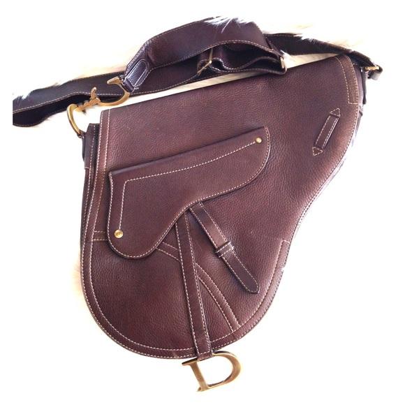 Dior Handbags - Christian Dior cross body saddle bag in large 40a79c24c1a