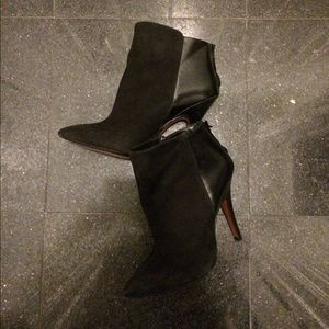 Zara black suede/leather booties