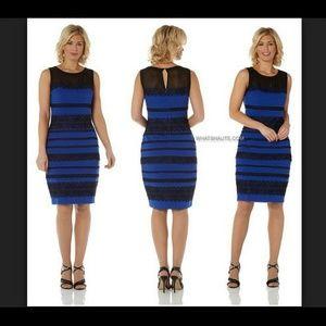 Roman blue and black dress