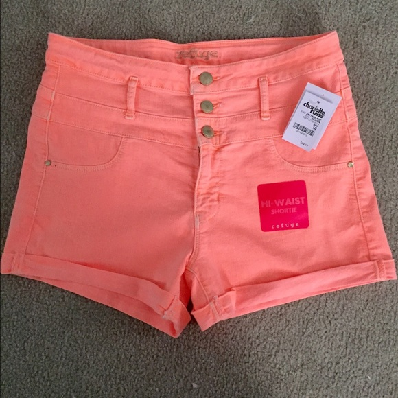 40% off Charlotte Russe Pants - Coral High Waisted Shorts from ...