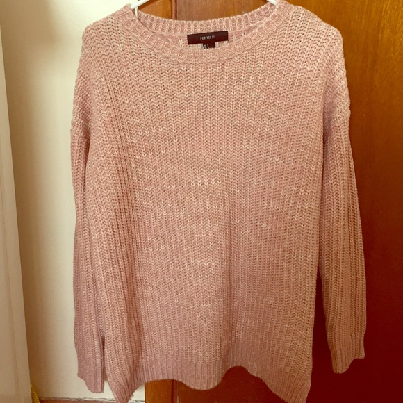80% off Forever 21 Sweaters - Pastel pink oversized knit sweater ...
