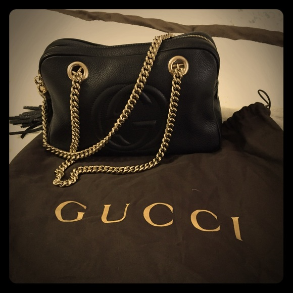 33c5991e 🚫🚫Sold🚫🚫Authentic Gucci Soho leather chain bag NWT