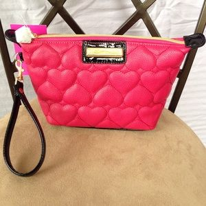 Betsey Johnson Handbags - Betsey Johnson Trapezoid Wristlet/Cosmetic Bag