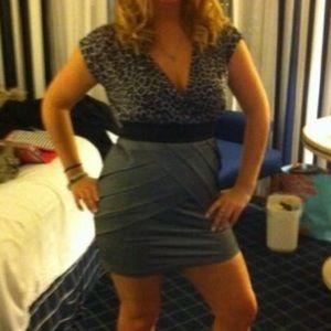 *5 for $20!* SALE!! grey leopard print dress