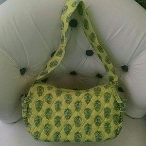 Vera Bradley Lime Green Bag w Elephants