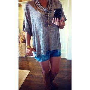 Splendid Tops - + Splendid burnout brown drape tops