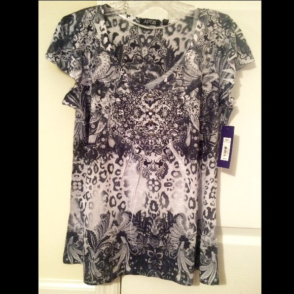 8623780512236 Apt. 9 Tops - Kohls size large petite brand new shirt