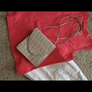 Faux croc cross body
