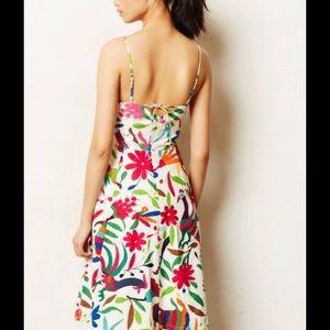 Anthropologie Dresses - Vanessa Virginia Floral Folk Art Dress
